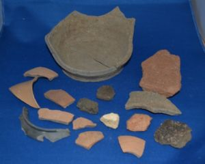 An interesting collection of 17 Roman pottery fragments excavated in London c.1939, Full Provenance. SOLD